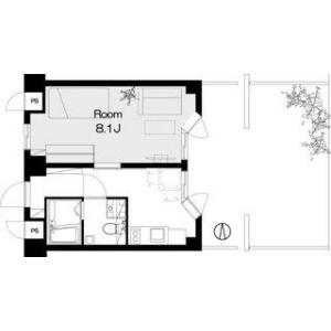 1K Mansion in Akatsutsumi - Setagaya-ku Floorplan
