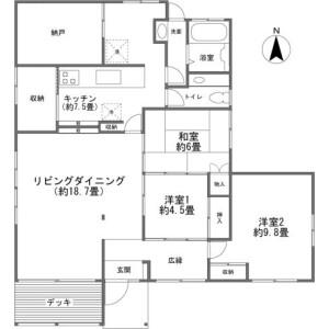 北佐久郡軽井沢町 軽井沢(大字) 3LDK {building type} 間取り