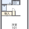 1K Apartment to Rent in Higashikurume-shi Floorplan