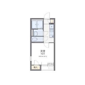 埼玉市南區文蔵-1K公寓 房間格局