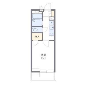 1K Mansion in Shirakane - Nagoya-shi Showa-ku Floorplan