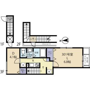 2K Apartment in Higashihorikiri - Katsushika-ku Floorplan