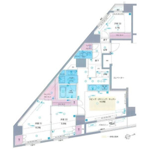3LDK Mansion in Nishigahara - Kita-ku Floorplan