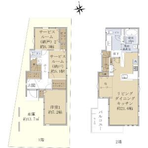 1LDK {building type} in Sekimachiminami - Nerima-ku Floorplan