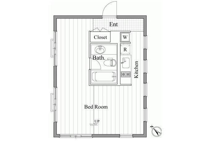1R 맨션 to Rent in 미나토쿠(港区) Interior
