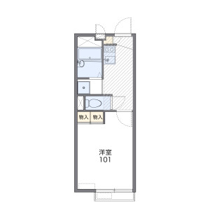 1K Apartment in Nishimachi - Kokubunji-shi Floorplan