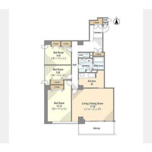 3LDK Mansion in Konan - Minato-ku Floorplan