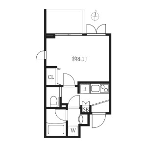 1K Mansion in Higashikomagata - Sumida-ku Floorplan