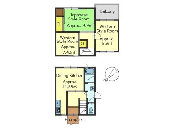 3DK House to Buy in Kyoto-shi Yamashina-ku Floorplan