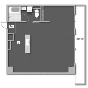 1R Mansion in Marunouchi - Nagoya-shi Naka-ku Floorplan