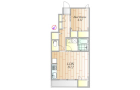 1LDK Apartment in Hiratsuka - Shinagawa-ku