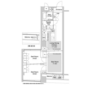 3LDK Apartment in Shibuya - Shibuya-ku Floorplan