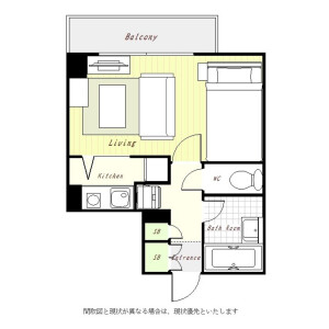 1R Mansion in Higashigotanda - Shinagawa-ku Floorplan