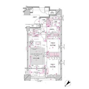 2LDK Mansion in Tsukiji - Chuo-ku Floorplan