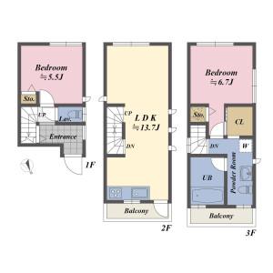 1SLDK House in Ebisu - Shibuya-ku Floorplan
