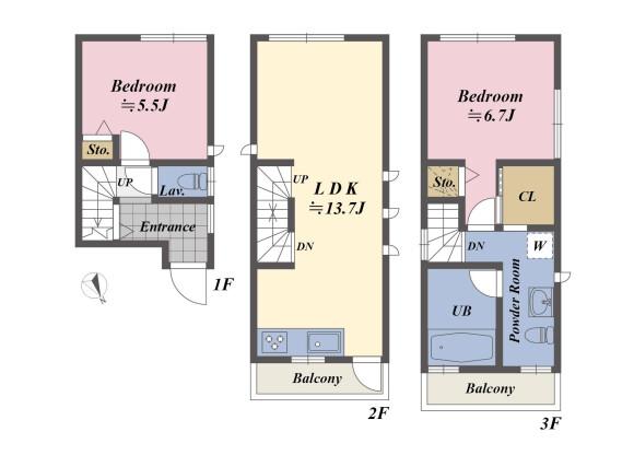 1SLDK House to Buy in Shibuya-ku Floorplan