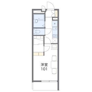 1K Mansion in Kikui - Nagoya-shi Nishi-ku Floorplan