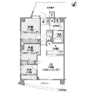 世田谷区 三軒茶屋 3LDK マンション 間取り