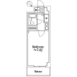 1K Mansion in Takamatsucho - Tachikawa-shi Floorplan