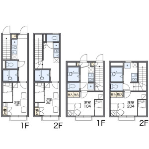 1K Apartment in Takaramachi - Katsushika-ku Floorplan