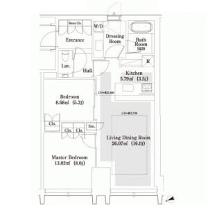 2LDK Apartment in Nishishinjuku - Shinjuku-ku Floorplan