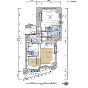文京区小石川-1LDK{building type} 楼层布局