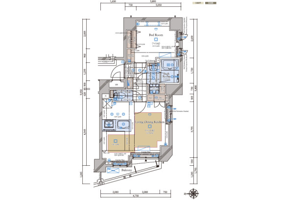1LDK Apartment to Buy in Bunkyo-ku Floorplan
