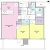 2LDK Apartment to Rent in Yokohama-shi Nishi-ku Floorplan