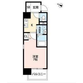 1K Mansion in Ogimachi - Osaka-shi Kita-ku Floorplan