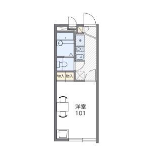 1K Apartment in Hiyoshi - Yokohama-shi Kohoku-ku Floorplan