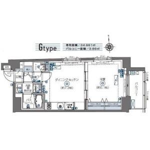 1DK Apartment in Samoncho - Shinjuku-ku Floorplan