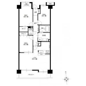 3LDK {building type} in Higashimita - Kawasaki-shi Tama-ku Floorplan