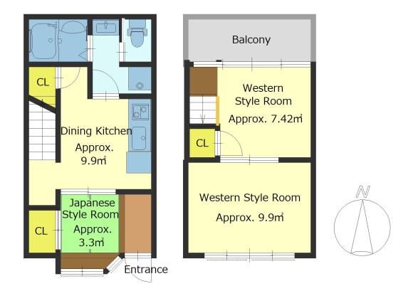 3DK House to Buy in Kyoto-shi Shimogyo-ku Floorplan