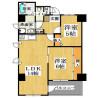 2LDK Apartment to Rent in Osaka-shi Fukushima-ku Floorplan
