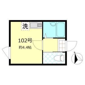 1R Apartment in Kanamachi - Katsushika-ku Floorplan