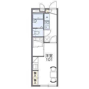 1K Apartment in Gojo - Dazaifu-shi Floorplan