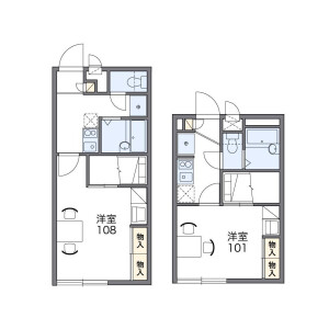 1K Apartment in Higashinaka - Fukuoka-shi Hakata-ku Floorplan