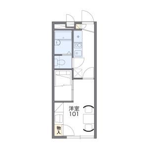 1K Apartment in Sugetacho - Yokohama-shi Kanagawa-ku Floorplan