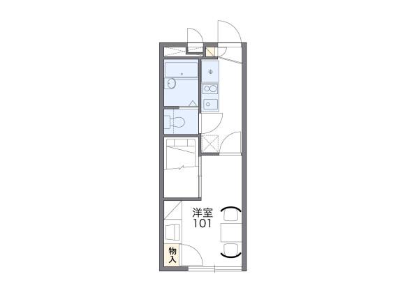 在横浜市神奈川区内租赁1K 公寓 的 楼层布局