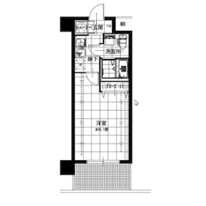 1K {building type} in Yamabukicho - Yokohama-shi Naka-ku Floorplan