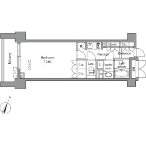 1K Mansion in Misakicho - Chiyoda-ku Floorplan