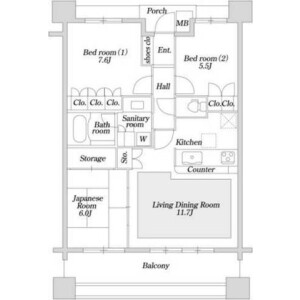 板橋區東坂下-3LDK公寓大廈 房間格局