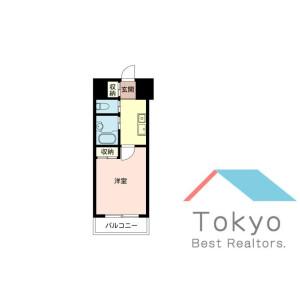 中央区東日本橋-1K公寓大厦 楼层布局