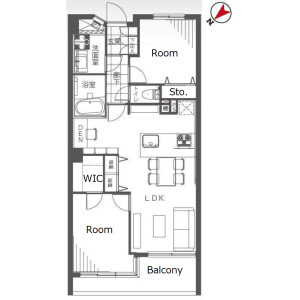 2LDK {building type} in Takadanobaba - Shinjuku-ku Floorplan