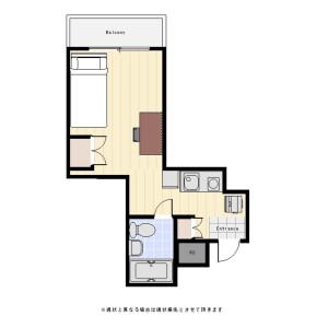 1R Mansion in Kamiuma - Setagaya-ku Floorplan