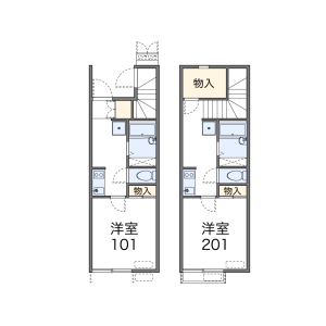 1K Apartment in Sakurazaka - Fukuoka-shi Chuo-ku Floorplan