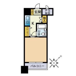 1K {building type} in Kotobukicho - Yokohama-shi Naka-ku Floorplan