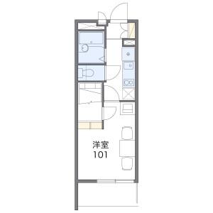 西东京市保谷町-1K公寓 楼层布局