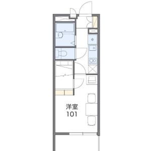 船橋市中野木-1K公寓大厦 楼层布局