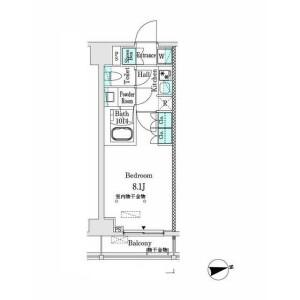1K Mansion in Ichigayanakanocho - Shinjuku-ku Floorplan